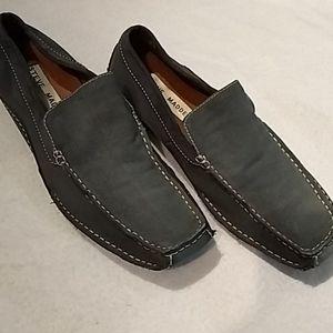 Steve Madden, men's slip on shoes. Blue